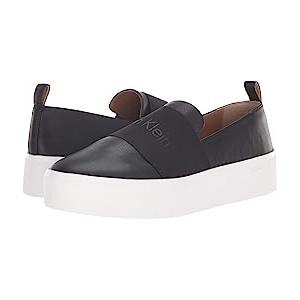Jacinta Black Leather/Elastic
