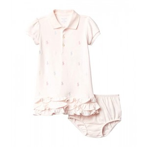 Baby Girls Ruffled Polo Dress & Bloomers Set (Infant)