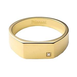 Geo Signet Ring with Diamond