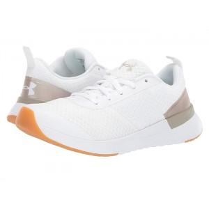 UA Aura Trainer White/Metallic Faded Gold/White