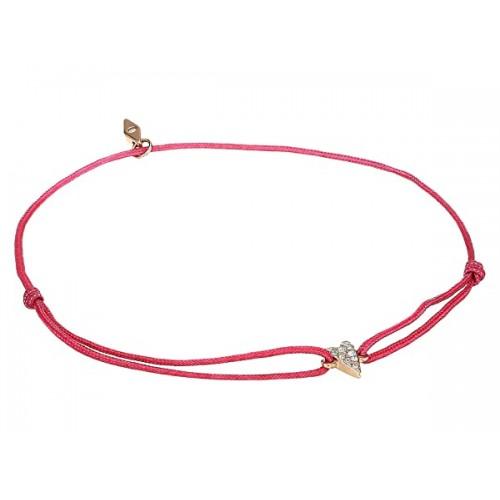파슬 Glitz Heart on Nylon Cord Bracelet