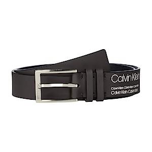 32mm Rubberized Leather Belt Dark Brown
