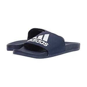 Adilette Cloudfoam Plus Logo Slides Dark Blue/Footwear White/Dark Blue