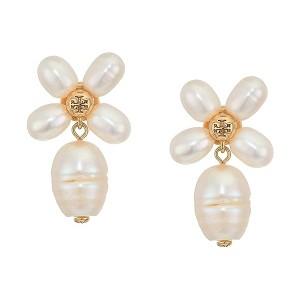 Pearl Clover Drop Earrings