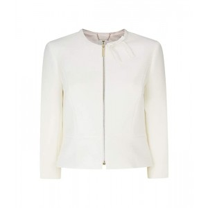 Jimeni Bow Neck Detail Jacket