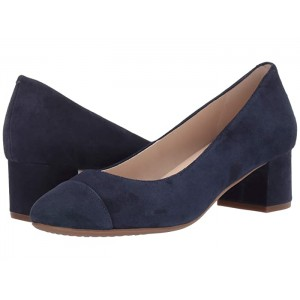 The Go-To Block Heel Pump 45mm Marine Blue Suede WP