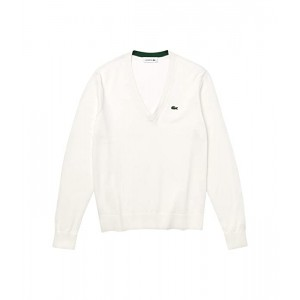 Long Sleeve V-Neck Cotton Jersey Sweater