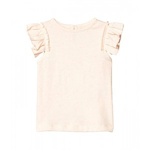 Stella McCartney Kids Short Sleeve Speckle Tee with Frills (Infant) Pink