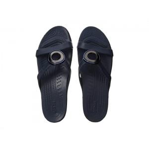 Sanrah Metal Block Sandal Silver/Navy