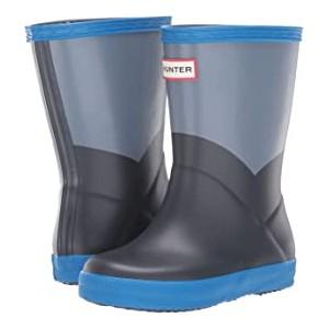 Original Kids First Classic Rain Boot (Toddler/Little Kid) Gull Grey/Bucket Blue/Navy