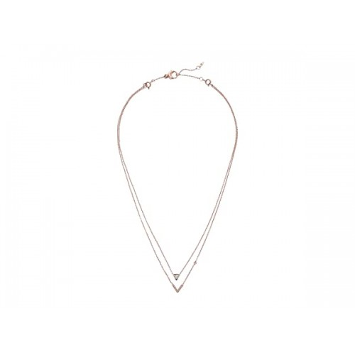 파슬 Triangle Howlite Double Strand Necklace