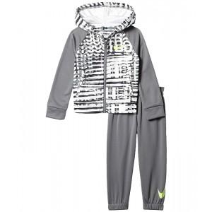 Nike Kids Therma Fleece Dominate Zip Hoodie and Joggers Two-Piece Set (Toddler) Smoke Grey