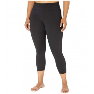 Plus Size All-In Lux Crop Pants Black/Clear