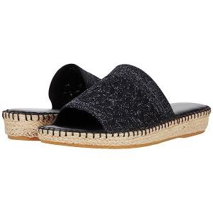 Cole Haan Cloudfeel Stitchlite Espadrille Slide Black/Silver Genevieve Weave Stitch Lite/Tonal Han