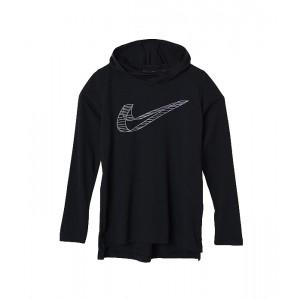 Nike Kids Breathe Hooded Long Sleeve Top (Big Kids) Black/Gunsmoke