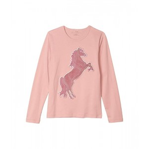 Long Sleeve Horse Patch Tee (Toddler/Little Kids/Big Kids)