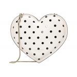 3-D Cabana Dot Heart Heart Crossbody