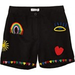 Linen Shorts with Rainbow Embroidery (Toddler/Little Kids/Big Kids)