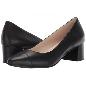 The Go-To Block Heel Pump 45mm Black Leather WP