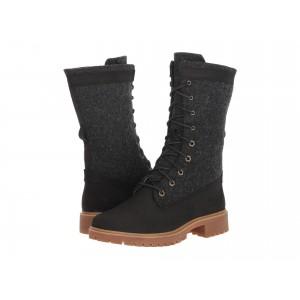 Jayne Warm Gaiter Boot Black Nubuck