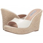 Micah Espadrille Wedge White Leather