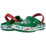 Crocband Holiday Lights Clog Kelly Green