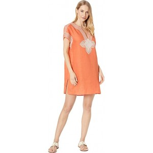 Embroidered Beach Tunic Cover-Up Blazing Sky