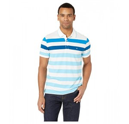 Short Sleeve Bold Stripe Polo