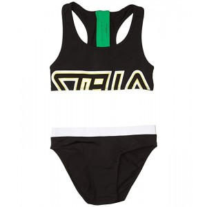 Stella McCartney Kids Sport Color Block Bikini (Toddleru002FLittle Kidsu002FBig Kids) Black