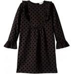 Long Sleeve Dot Print Dress (Toddler/Little Kids/Big Kids)