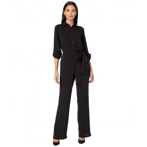 Roll Sleeve Safari Jumpsuit Black