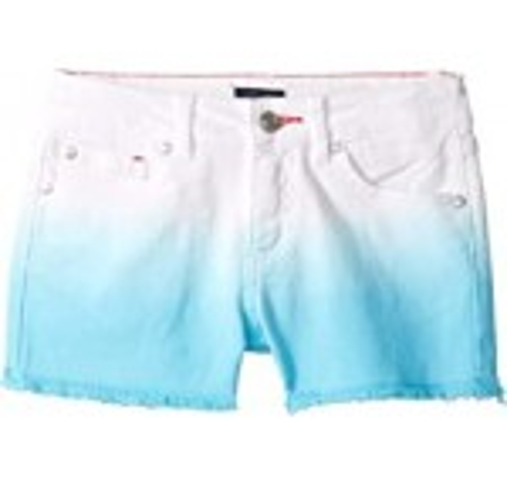 Dip-Dyed Denim Shorts in Blue Fish (Little Kids/Big Kids)