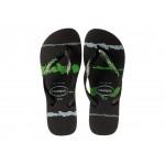 Top Tropical Glitch Sandal Black/Green