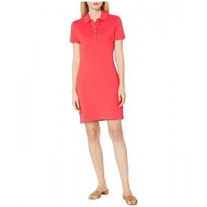 Short Sleeve Slim Fit Stretch Pique Polo Dress