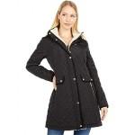 LAUREN Ralph Lauren Big & Small Diamond Quilted Coat wu002F Hood Black