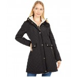Big & Small Diamond Quilted Coat w/ Hood