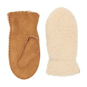 Exposed Curly Pile Mitten (Toddler/Little Kids) Chestnut Curly