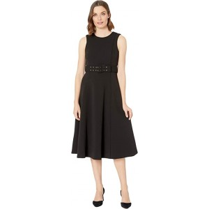 Sleeveless Belted A-Line Dress