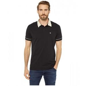 Brixton Carlos Short Sleeve Polo Knit Black/Dove