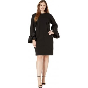 Plus Size Luxe Tech Crepe-Dress w/ Combo