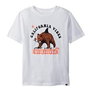 Cali Bear Shark Tee (Big Kids) White