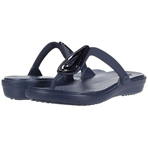 Sanrah Beveled Flat Flip-Flop Navy/Navy