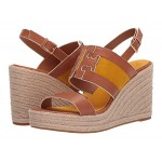 Tory Burch Ines 105 mm Wedge Espadrille Tan/Goldfinch