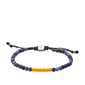 Citrine and Sodalite Beaded Bracelet