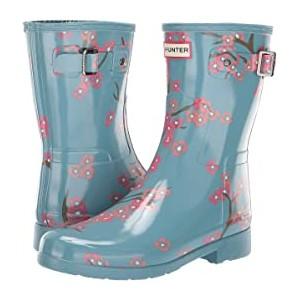 Refined Blossom Print Short Boot Soft Pine Floral