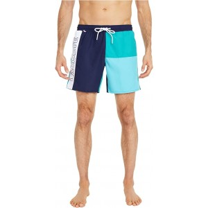 Color-Block and Printed Mid Length Swim Trunks