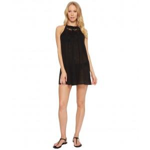 Macrame Dress Cover-Up Black