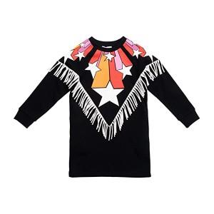 Sweatshirt Dress with Stars and Fringe (Toddleru002FLittle Kidsu002FBig Kids)