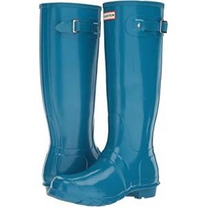Original Tall Gloss Rain Boots Ocean Blue