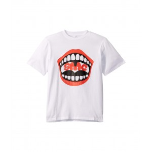 Short Sleeve Mouth T-Shirt (Toddler/Little Kids/Big Kids) White